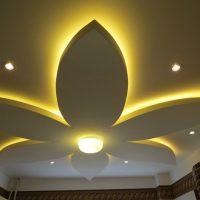 Цветок из гипсокартона на потолке своими руками: фото, видео
