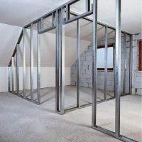 Как установить перегородку с дверью из гипсокартона