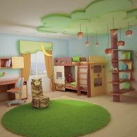 Потолки из гипсокартона в детской