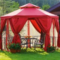Легкие тенты и шатры для беседок